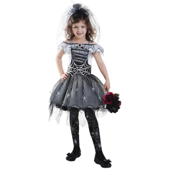 gothic spider bride girls halloween costume m 8 10